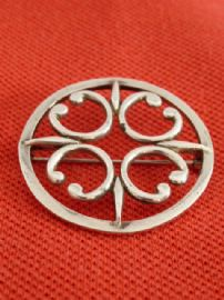 Ola Gorie Brooch - St Magnus Brooch - Sterling Silver  Hallmarked Edinburgh 1982 (SOLD)